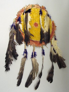 Apache (Native American). Shield or Tipi Ornament. Hide Brooklyn Museum, Brooklyn Museum Collection, X1126.46. Creative Commons-BY