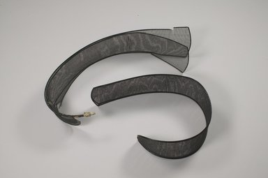 Piece of Gak from a Samo, 20th century. Horsehair, bamboo, 3 3/4 x 24 3/16 in. (9.5 x 61.5 cm). Brooklyn Museum, Brooklyn Museum Collection, X1140.1. Creative Commons-BY