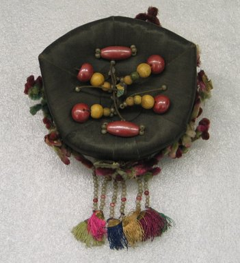 Woman's Headdress (Jokduri), 1950s-1960s. Silk satin, paper, beads, Height: 2 3/4 in. (7 cm). Brooklyn Museum, Brooklyn Museum Collection, X1145. Creative Commons-BY