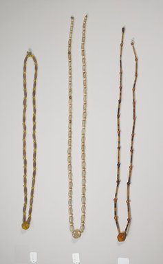 String of Beads for Hat (Gatkkeun), late 19th-early 20th century. Amber, tortoiseshell, 27 3/8 in. (69.5 cm). Brooklyn Museum, Brooklyn Museum Collection, X1154. Creative Commons-BY
