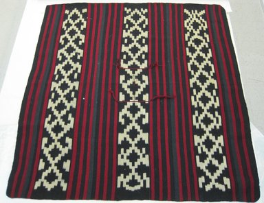 Mapuche. Poncho, 20th century. Wool, 66 1/4 x 63 in. (168.3 x 160 cm). Brooklyn Museum, Brooklyn Museum Collection, X1177. Creative Commons-BY