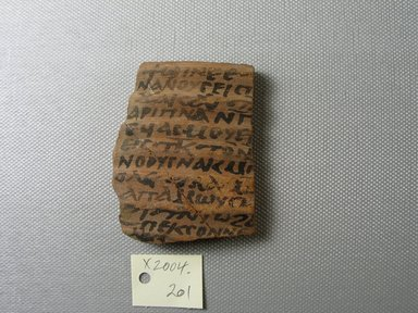 Brooklyn Museum: Coptic Ostracon