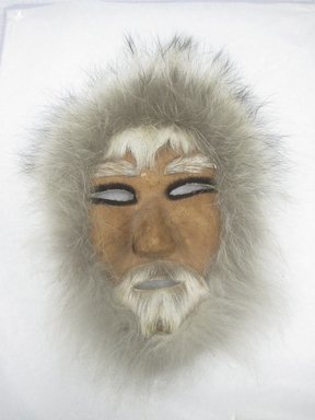 Possibly Eskimo (Native American). Mask, 21th century. Fur, hide (Caribou?), 10 1/2 x 7 in. (26.7 x 17.8 cm). Brooklyn Museum, Brooklyn Museum Collection, X1194. Creative Commons-BY