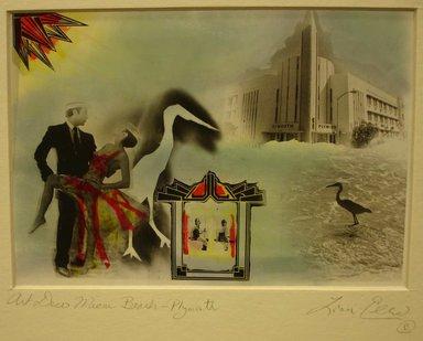 Loren Elizabeth Ellis (American, born 1953). Miami Beach-Plymouth, ca. 1980. Photo-montage (hand printed and painted), 8 x 10 in. (20.3 x 25.4 cm). Brooklyn Museum, Gift of the artist, 2013.52.1. © Loren Ellis