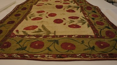 Printed Table Cover, 18th century. Cotton, 80 5/16 x 49 3/16 in.  (204 x 125 cm). Brooklyn Museum, Brooklyn Museum Collection, X203. Creative Commons-BY