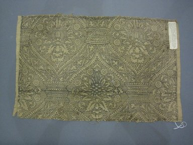Tan Block Print Textile, 16th century. Linen, 21 7/8 x 14 9/16 in.  (55.5 x 37 cm). Brooklyn Museum, Brooklyn Museum Collection, X25