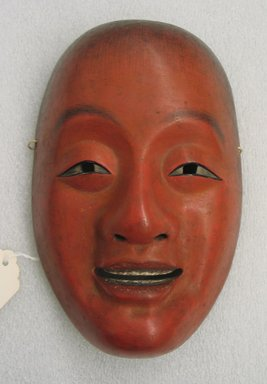 Noh Theatre Shoujou Mask, Late 19th century. Carved painted wood, 8 1/16 x 5 1/4 in.  (20.5 x 13.3 cm). Brooklyn Museum, Brooklyn Museum Collection, X532. Creative Commons-BY