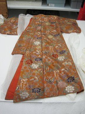 Noh Robe, 19th century. Silk, 58 x 59 1/2 in.  (147.3 x 151.1 cm). Brooklyn Museum, Brooklyn Museum Collection, X640.2. Creative Commons-BY