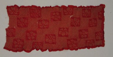 Fragment of Textile, 20th century. Crepe, 18 1/2 x 8 in.  (47.0 x 20.3 cm). Brooklyn Museum, Brooklyn Museum Collection, X647.1. Creative Commons-BY