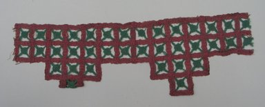 Indian Textile. Embroidery, 13 3/4 x 4 3/8 in.  (34.9 x 11.1 cm). Brooklyn Museum, Brooklyn Museum Collection, X647.3. Creative Commons-BY