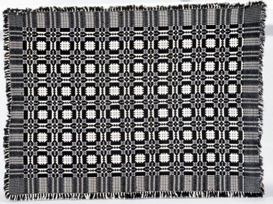 American. Coverlet, ca. 1825-1850. Wool, cotton, 80 x 50 in. (203.2 x 127.0 cm) (including fringe). Brooklyn Museum, Brooklyn Museum Collection, X769.1