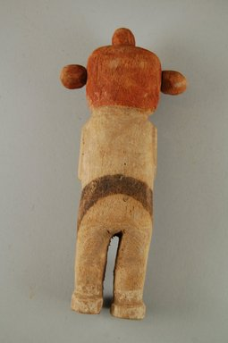 Hopi Pueblo (Native American). Kachina Doll (Koyemsi [Mudhead]), late 19th century. Wood, pigment, 18.5 x 8 x 3.8 cm / 7 1/2 x 3 1/4 x 1 1/2 in. Brooklyn Museum, Brooklyn Museum Collection, X862.1. Creative Commons-BY