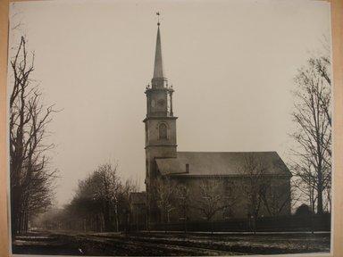 George Bradford Brainerd (American, 1845-1887). Dutch Reform Church, Flatbush 1877, 1887, printed 1940. Gelatin silver photograph, image: 10 1/2 x 13 3/4 in. (26.7 x 34.9 cm). Brooklyn Museum, Brooklyn Museum Collection, X894.143