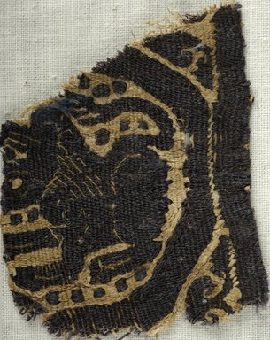 Coptic. Textile. Flax, wool, 2 1/4 x 1 7/8 in. (5.7 x 4.8 cm). Brooklyn Museum, Brooklyn Museum Collection, X933. Creative Commons-BY