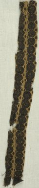 Coptic. Fragment of a Clavus Decoration from a Tunic. Flax, wool, 10 1/4 x 1 1/8 in. (26 x 2.9 cm). Brooklyn Museum, Brooklyn Museum Collection, X936. Creative Commons-BY