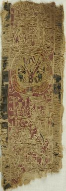 Coptic. Three Fragments from a Tunic. Flax, wool, x943a: 7 x 6 3/4 in. (17.8 x 17.1 cm). Brooklyn Museum, Brooklyn Museum Collection, X943a-c. Creative Commons-BY
