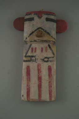 Hopi Pueblo (Native American). Kachina Doll (Omau [Cloud]), late 19th century. Wood, pigment, string, 4 3/4 x 1 5/8 x 7 9/16in. (12 x 4.2 x 19.2cm). Brooklyn Museum, Museum Expedition 1904, Museum Collection Fund, 04.297.5584. Creative Commons-BY
