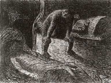 Ernst Barlach (German, 1870-1938). The Troll (Der Alb), 1912. Lithograph on wove buff paper, Image: 8 x 10 13/16 in. (20.3 x 27.5 cm). Brooklyn Museum, Gift of Dr. F.H. Hirschland, 55.165.104