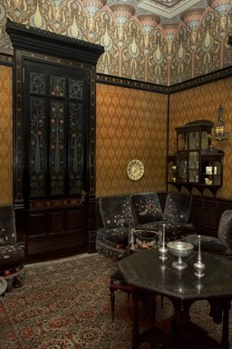 Worsham-Rockefeller Room, built ca. 1864-1865; remodeled ca. 1881. Moorish smoking room from the John D. Rockefeller House, 17 1/2 x 15 1/2 ft. (5.3 x 4.7 m). Brooklyn Museum, Gift of John D. Rockefeller, Jr. and John D. Rockefeller III, 46.43. Creative Commons-BY