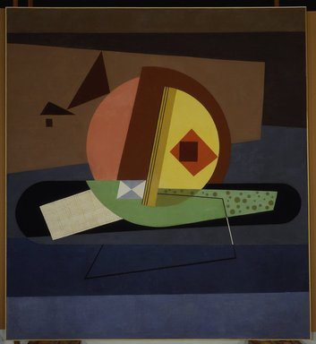 Paul Kelpe (American, born Germany, 1902-1985). Untitled (left panel of a pair), from the Williamsburg Housing Project Murals, ca. 1938. Oil on canvas, 98 1/4 x 89 1/2 in. (249.6 x 227.3 cm). Brooklyn Museum, On loan from the New York City Housing Authority, L1990.1.2