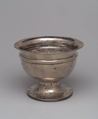 Nehemiah Bassett (Maker) (active ca. 1795-1819). Bowl, ca. 1825. Silver, 5 1/2 x 7 1/8 x 7 1/8 in.  (14.0 x 18.1 x 18.1 cm). Brooklyn Museum, Lent by Wunsch Americana Foundation, Inc., L1999.7. Creative Commons-BY