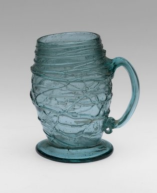 Mug, mid 18th century. Glass , 3 3/4 x 2 3/8 in. (9.5 x 6 cm). Brooklyn Museum, Gift of Wunsch Foundation, Inc., 2008.20.5. Creative Commons-BY