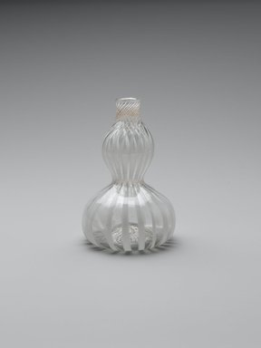 Bottle, late 17th century. Glass, 4 3/8 x 2 1/2 in. (11.1 x 6.4 cm). Brooklyn Museum, Gift of Wunsch Foundation, Inc., 2008.20.6. Creative Commons-BY
