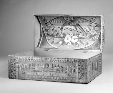 Chest, 1878. Wood, lacquer, 14 x 33 1/16 x 16 15/16in. (35.6 x 84 x 43cm). Brooklyn Museum, Lent by Dr. Herbert J. Spinden, L41.106. Creative Commons-BY
