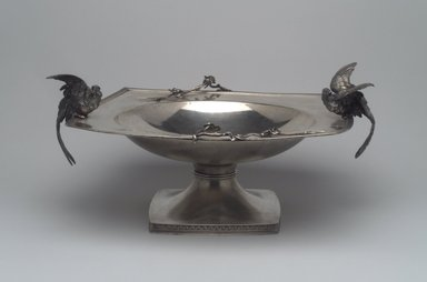 Tiffany & Company (American, founded 1853). Compote, ca. 1873. Silver, 6 1/4 x 13 x 11 in. (15.9 x 33 x 27.9 cm). Brooklyn Museum, Lent by Mr. and Mrs. George W. Cherkis, L86.7.1. Creative Commons-BY