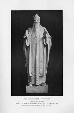 Karl Bitter (American, 1867-1915). Chinese Religion, 1909. Indiana limestone, Approx. height: 144 in. (365.8 cm). Brooklyn Museum, Gift of the City of New York, Parks and Recreation, 09.937.6. Creative Commons-BY