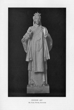 Karl Bitter (American, 1867-1915). Chinese Art, 1909. Indiana limestone, Approx. height: 144 in. (365.8 cm). Brooklyn Museum, Gift of the City of New York, Parks and Recreation, 09.937.8. Creative Commons-BY