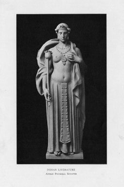 Attilio Piccirilli (American, born Italy, 1868-1945). Indian Literature, 1909. Indiana limestone, Approx. height: 144 in. (365.8 cm). Brooklyn Museum, Gift of the City of New York, Parks and Recreation, 09.937.3. Creative Commons-BY