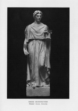 Herbert Adams (American, 1858-1945). Greek Architecture, 1909. Indiana limestone, Approx. height: 144 in. (365.8 cm). Brooklyn Museum, Gift of the City of New York, Parks and Recreation, 09.937.23. Creative Commons-BY