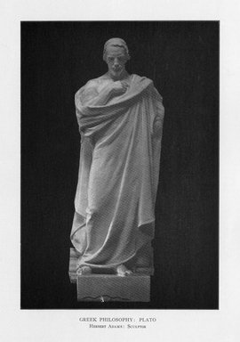 Herbert Adams (American, 1858-1945). Greek Philosophy, 1909. Indiana limestone, Approx. height: 144 in. (365.8 cm). Brooklyn Museum, Gift of the City of New York, Parks and Recreation, 09.937.22. Creative Commons-BY
