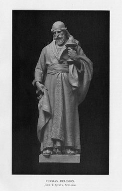 Edmond T. Quinn (American, 1868-1929). Persian Religion, 1909. Indiana limestone, Approx. height: 144 in. (365.8 cm). Brooklyn Museum, Gift of the City of New York, Parks and Recreation, 09.937.1. Creative Commons-BY