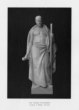 Edward C. Potter (American, 1857-1923). Indian Philosophy, 1909. Indiana limestone, Approx. height: 144 in. (365.8 cm). Brooklyn Museum, Gift of the City of New York, Parks and Recreation, 09.937.4. Creative Commons-BY