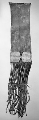 Sioux, Plains (Native American). Pipe Bag. Hide, beads, porcupine quill, 31 11/16 x 6 5/16 in.  (80.5 x 16 cm). Brooklyn Museum, Brooklyn Museum Collection, X102. Creative Commons-BY