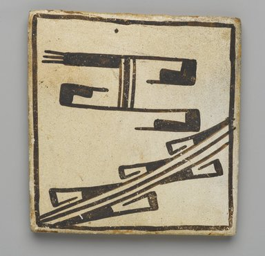 Hopi Pueblo (Native American). Tile, late 19th-early 20th century. Clay, slip, 3 5/8 x 3 3/16 in. (9.0 x 8.0 cm). Brooklyn Museum, Brooklyn Museum Collection, X1047.10. Creative Commons-BY