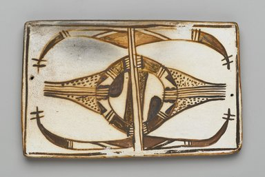 Hopi Pueblo (Native American). Tile, late 19th-early 20th century. Clay, slip, 6 1/8 x 3 3/4 in. (15.5 x 9.5 cm). Brooklyn Museum, Brooklyn Museum Collection, X1047.12. Creative Commons-BY