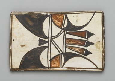 Hopi Pueblo (Native American). Tile, late 19th-early 20th century. Clay, slip, 6 x 3 3/4 in. (15.0 x 9.5 cm). Brooklyn Museum, Brooklyn Museum Collection, X1047.14. Creative Commons-BY