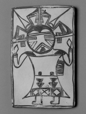 Hopi Pueblo (Native American). Tile, late 19th-early 20th century. Clay, slip, 6 x 3 11/16 in. (15.0 x 9.3 cm). Brooklyn Museum, Brooklyn Museum Collection, X1047.1. Creative Commons-BY