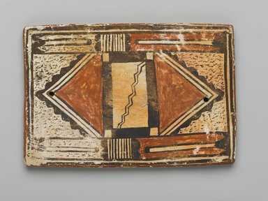 Hopi Pueblo (Native American). Tile, late 19th-early 20th century. Clay, slip, 6 x 4 in. (15.2 x 10.2 cm). Brooklyn Museum, Brooklyn Museum Collection, X1047.5. Creative Commons-BY