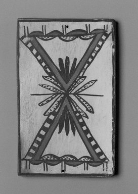 Hopi Pueblo (Native American). Tile, late 19th-early 20th century. Clay, slip, 6 x 3 3/4 in. (15.0 x 9.5 cm). Brooklyn Museum, Brooklyn Museum Collection, X1047.6. Creative Commons-BY