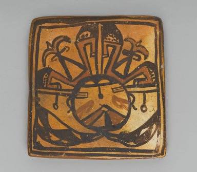 Hopi Pueblo (Native American). Tile, late 19th-early 20th century. Clay, slip, 3 3/8 x 3in. (8.5 x 7.6cm). Brooklyn Museum, Brooklyn Museum Collection, X1047.7. Creative Commons-BY