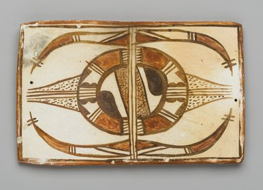 Hopi Pueblo (Native American). Tile, late 19th-early 20th century. Clay, slip, 6 x 3 5/8 x 3/8 in. (15.2 x 9.2 x 1 cm). Brooklyn Museum, Brooklyn Museum Collection, X1047.9. Creative Commons-BY