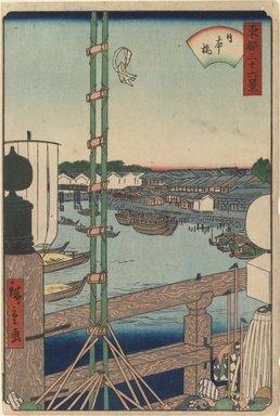 Utagawa Hiroshige II (Japanese, 1826-1869). Nihonbashi, 1853. Woodblock print; oban tata-e, 14 1/8 x 9 7/16 in. (35.9 x 24 cm). Brooklyn Museum, Brooklyn Museum Collection, X1113