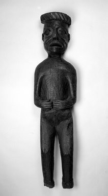 Gwa'sala Kwakwaka'wakw (Native American). Standing Potlatch Figure, late 19th century. Wood, 60 11/16 x 14 3/16 x 5 1/2 in. (154.1 x 36 x 14 cm). Brooklyn Museum, Brooklyn Museum Collection, X1118.2. Creative Commons-BY