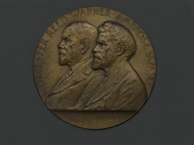 Victor David Brenner (American, 1871-1924). Worcester and Swasey Company Medal, 1920. Bronze, 3 x 3 x 3/16 in. (7.6 x 7.6 x 0.5 cm). Brooklyn Museum, Brooklyn Museum Collection, X1180.3. Creative Commons-BY
