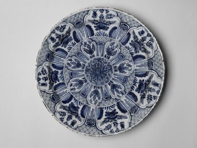 Cornelis de Keizer. Charger, ca. 1668. Glazed earthenware, Diameter: 14 1/4 in. (36.2 cm). Brooklyn Museum, Brooklyn Museum Collection, X238. Creative Commons-BY