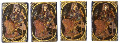 Brooklyn Museum: Bibi or Queen Playing Card for the Game of Nas